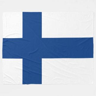 Cobertor De Velo Bandeira da bandeira transversal azul de Finlandia