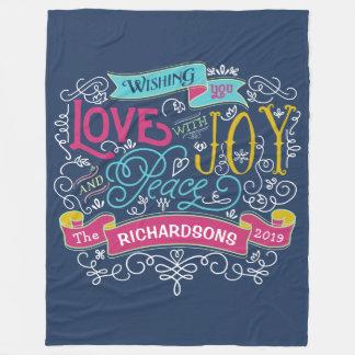 Cobertor De Velo Bandeira do costume da paz da alegria do amor da