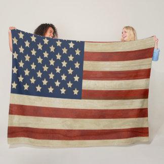 Cobertor De Velo Bandeira dos Estados Unidos da América do vintage