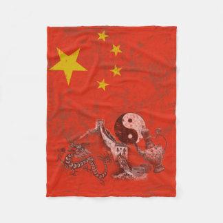 Cobertor De Velo Bandeira e símbolos de China ID158