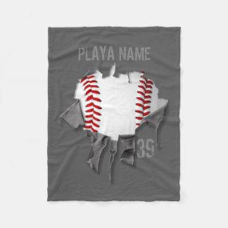 Cobertor De Velo Basebol rasgado (personalizado)