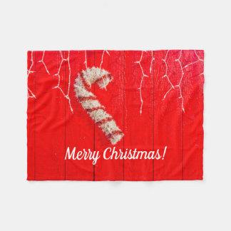 Cobertor De Velo Bastão de doces no vermelho - Natal - sazonal -