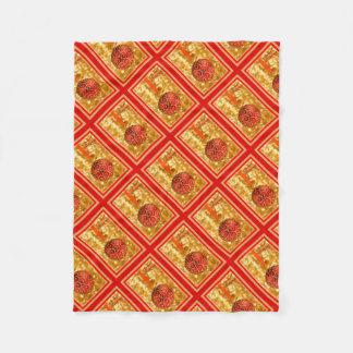 Cobertor De Velo Bauble do Feliz Natal no ouro
