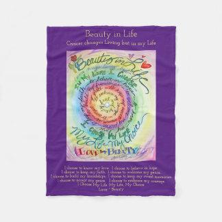 Cobertor De Velo Beleza em coberturas do velo de Chemo do poema do