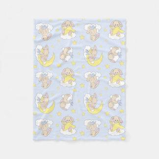Cobertor De Velo Berçário animal do menino da floresta da nuvem de