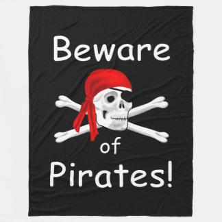Cobertor De Velo Beware da cobertura dos piratas