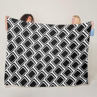 Cobertor De Velo Blocos, preto & branco abstratos modernos da cor