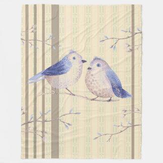 Cobertor De Velo Bluebirds em-minha cobertura do velo da janela