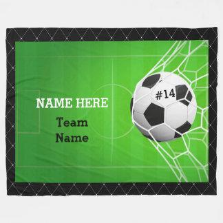 Cobertor De Velo Bola de futebol na rede
