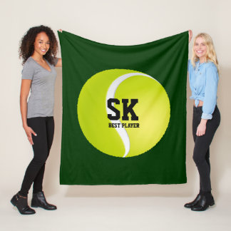 Cobertor De Velo Bola de tênis verde personalizada