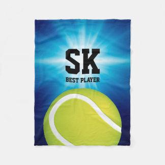 Cobertor De Velo Bola de tênis verde personalizada de |