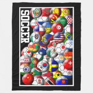 Cobertor De Velo Bolas de futebol do mundo