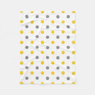 Cobertor De Velo Bolinhas cinzentas amarelas da aguarela
