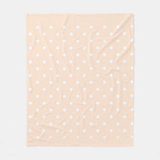 Cobertor De Velo Bolinhas claras do Bisque