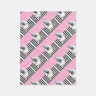 Cobertor De Velo Bolinhas cor-de-rosa do Titmouse