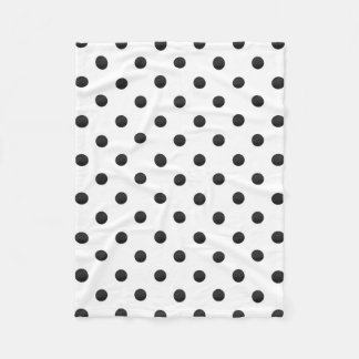 Cobertor De Velo Bolinhas preto e branco da aguarela