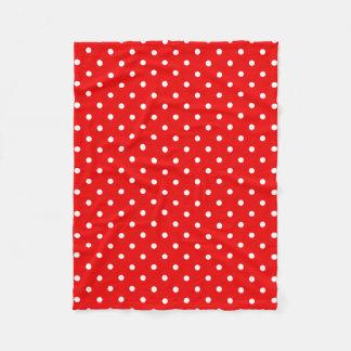 Cobertor De Velo Bolinhas vermelhas