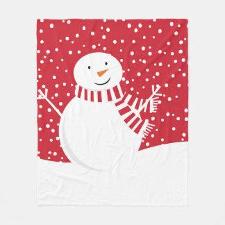 Cobertor De Velo boneco de neve contemporâneo moderno do inverno