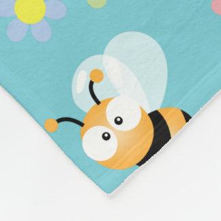 Cobertor De Velo Bonito Bumble a abelha e o teste padrão de flor