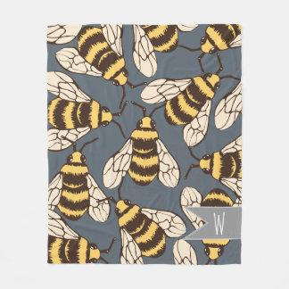 Cobertor De Velo Bonito Bumble a ilustração das abelhas -