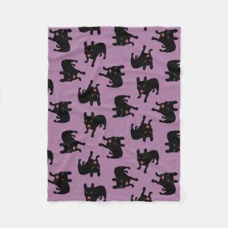 Cobertor De Velo Bonito todo o filhote de cachorro rajado preto do