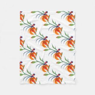 Cobertor De Velo Borboleta de monarca & lírio de tigre