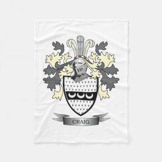Cobertor De Velo Brasão da crista da família de Craig