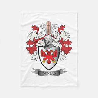 Cobertor De Velo Brasão da crista da família de Dunlap