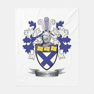 Cobertor De Velo Brasão da crista da família de Kirkpatrick
