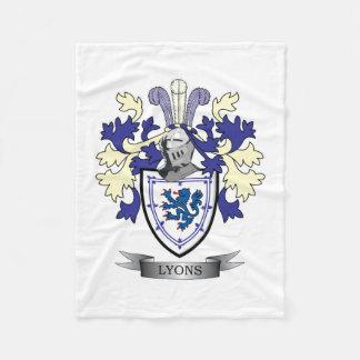Cobertor De Velo Brasão da crista da família de Lyons
