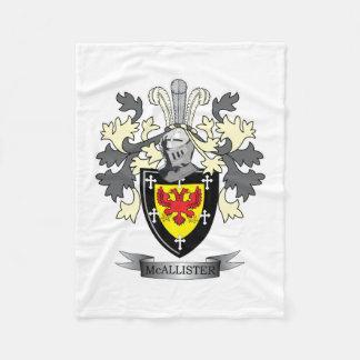 Cobertor De Velo Brasão da crista da família de McAllister