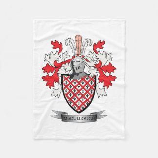 Cobertor De Velo Brasão da crista da família de McCullough