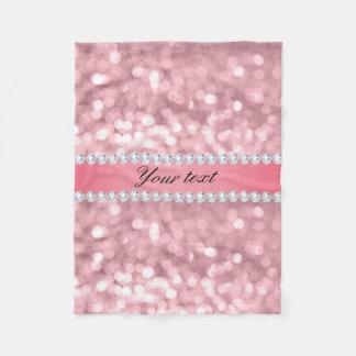 Cobertor De Velo Brilho cor-de-rosa Bokeh e diamantes