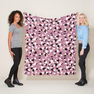 Cobertor De Velo Brilho cor-de-rosa do ouro dos triângulos