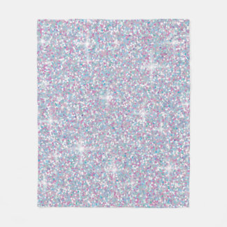 Cobertor De Velo Brilho iridescente branco