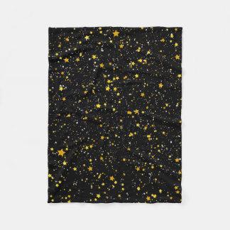 Cobertor De Velo Brilho Stars3 - Preto do ouro