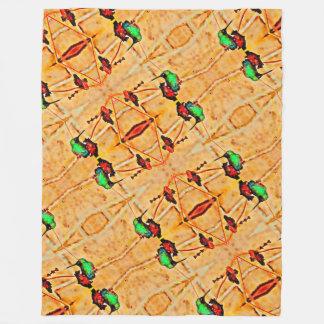Cobertor De Velo Bronze, colibri vermelho e roxo do ouro
