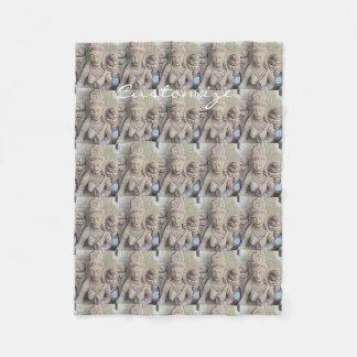 Cobertor De Velo buddhas de pedra Thunder_Cove do mosaico