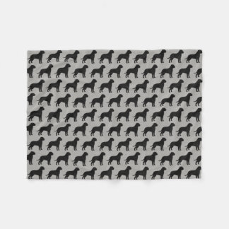 Cobertor De Velo Bullmastiff mostra em silhueta o cinza do teste