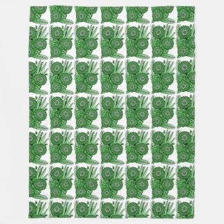 Cobertor De Velo Buquê verde da flor da margarida do Gerbera do