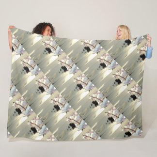 Cobertor De Velo Cabelo curto preto e branco