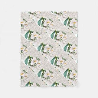 Cobertor De Velo Caligrafia branca das orquídeas