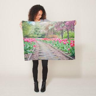 Cobertor De Velo Caminho da tulipa
