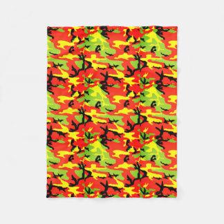 Cobertor De Velo Camuflagem etíope de Rastafari - cobertura do velo