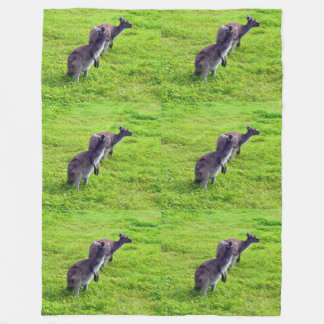 Cobertor De Velo Cangurus australianos na cobertura do velo de Lge