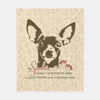 Cobertor De Velo Cão da chihuahua meu poema da luz do sol