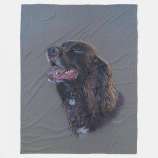 Cobertor De Velo Cão de Engish cocker spaniel. Pintura das belas
