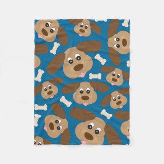 Cobertor De Velo Cão de sorriso bonito com orelhas grandes