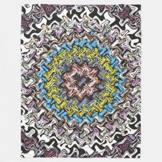 Cobertor De Velo Caos concêntrico colorido