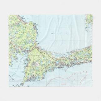 Cobertor De Velo Cape Cod Mapa (1986)